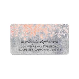 Vintage Pink Confetti Wedding Label