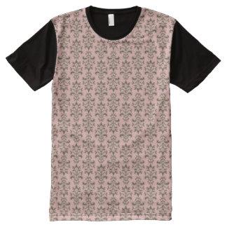Vintage Pink Damask All-Over Print T-Shirt