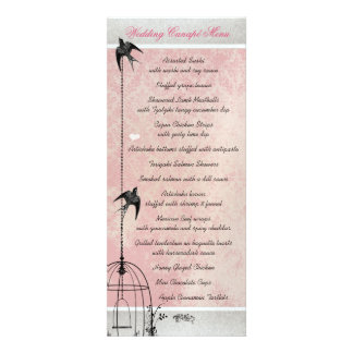 Vintage Pink Damask Bird Cage Save the Date Personalized Invitations