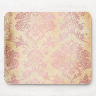 Vintage Pink Damask Mouse Pads