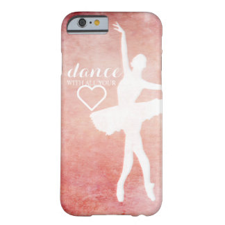Vintage pink design with ballerina silhouette barely there iPhone 6 case