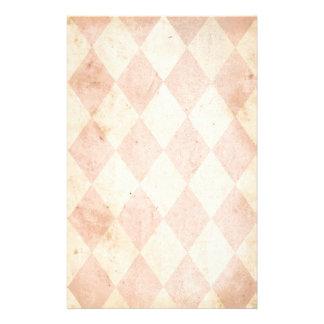 Vintage Pink Diamond Print Stationery Design