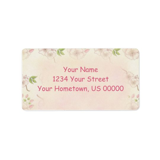 Vintage Pink Dogwood and Buds Address Label