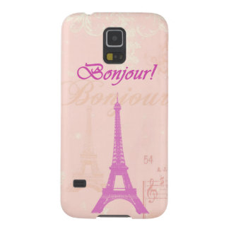 Vintage Pink Eiffel Tower Galaxy S5 Cover