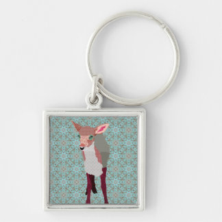 Vintage Pink Fawn Keychain
