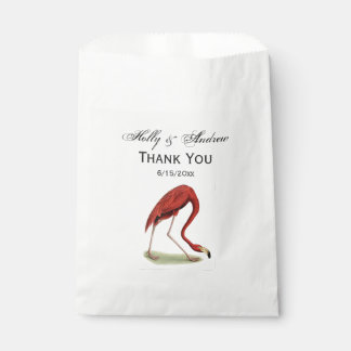 Vintage Pink Flamingo #1 Favour Bag
