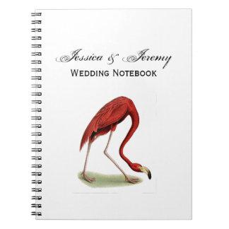Vintage Pink Flamingo #1 Notebooks