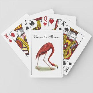Vintage Pink Flamingo #1 Playing Cards