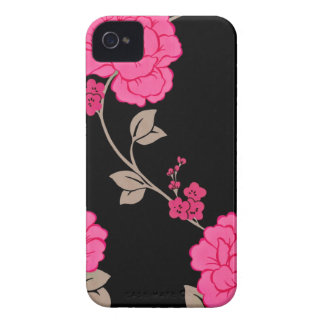 Vintage Pink Flowers Case-Mate iPhone 4 Case