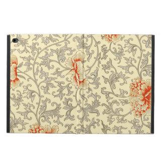 Vintage Pink Gray Artwork Print Floral Pattern