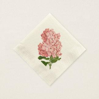 Vintage Pink Hydrangea, Custom Paper Napkins