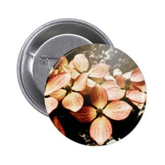 Vintage Pink Kousa Dogwood Flower Blossom Buttons