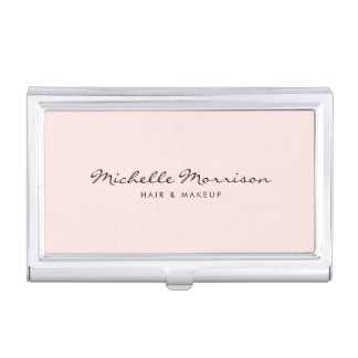 Vintage Pink Makeup and Beauty Card Case Business Card Case