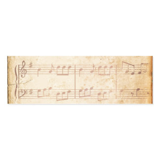 Vintage Pink Music Sheet Business Card Template