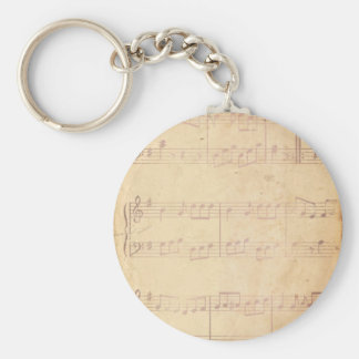 Vintage Pink Music Sheet Keychains