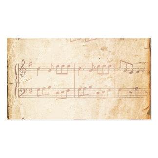 Vintage Pink Music Sheet Pack Of Standard Business Cards