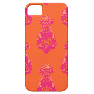 Vintage pink/orange colour background iPhone 5 cover