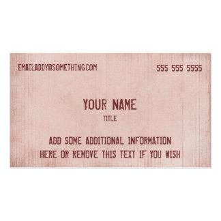 Vintage Pink Parchment Pack Of Standard Business Cards