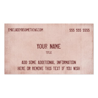 Vintage Pink Parchment Pack Of Standard Business Cards
