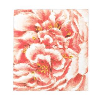 Vintage Pink Peonies Notepad