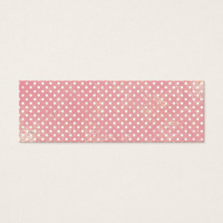Vintage Pink Polka Dots Mini Business Card