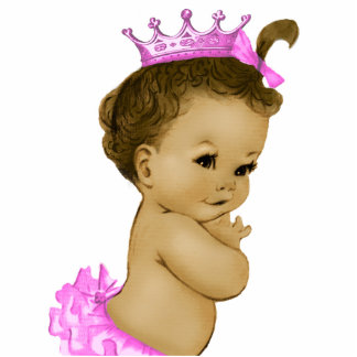 Vintage Pink Princess Baby Girl Shower Cut Outs