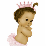 Vintage Pink Princess Baby Girl Shower Standing Photo Sculpture