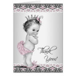 Vintage Pink Princess Baby Shower Thank You Cards
