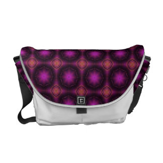 Vintage Pink Purple And Orange Mosaic Pattern Commuter Bag