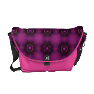 Vintage Pink Purple And Orange Mosaic Pattern Commuter Bags