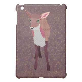Vintage Pink Purple Fawn Cover For The iPad Mini