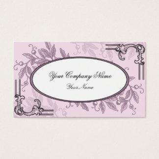 Vintage Pink Purple Floral Business Business Card