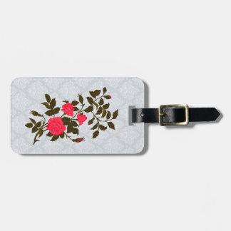 Vintage Pink Rambling Rose Luggage Tag