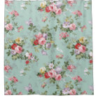Vintage pink red elegant roses flowers pattern shower curtain