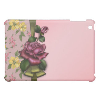 Vintage Pink Red Rose  Cover For The iPad Mini