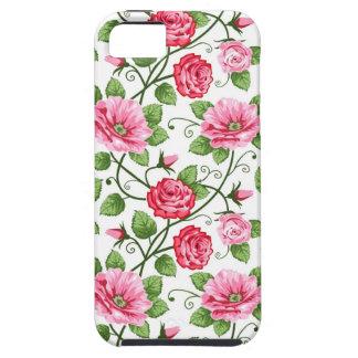 Vintage Pink & Red Rose Floral iPhone 5 Cover Case