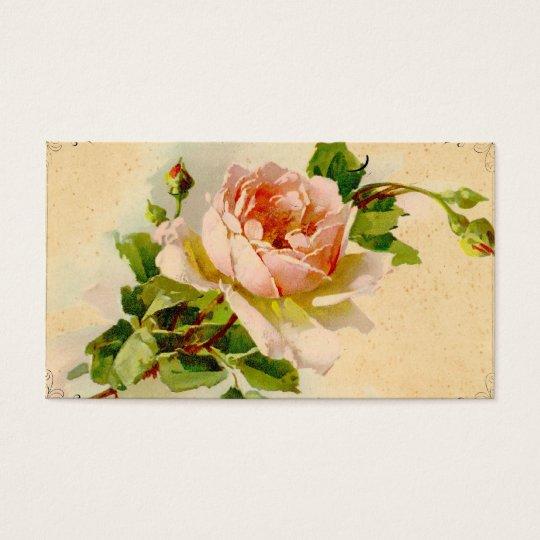 Vintage Pink Rose Business Profile Card