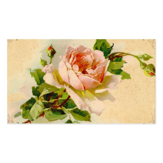 Vintage Pink Rose Business Profile Card Business Card