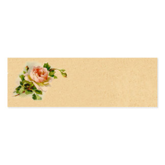 Vintage Pink Rose Business Profile Card Business Card Template