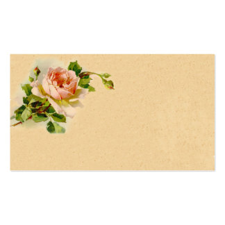 Vintage Pink Rose Business Profile Card Business Card Templates