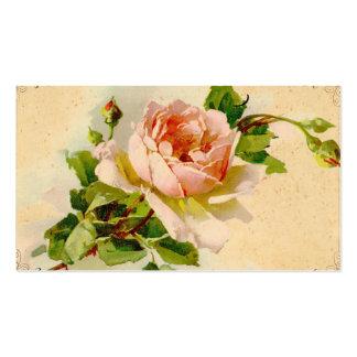 Vintage Pink Rose Business Profile Card Business Cards