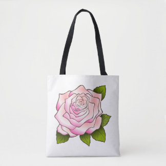 Vintage Pink Rose Drawing Tote Bag