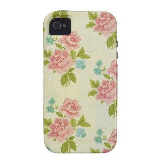 Vintage Pink Rose iPhone 4/4S Case