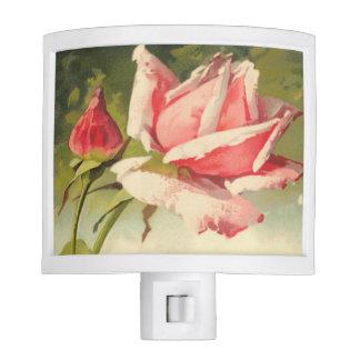 Vintage Pink Rose Night Light