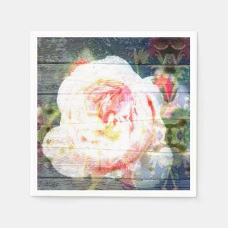 Vintage Pink Rose paper cocktail napkins Paper Napkin