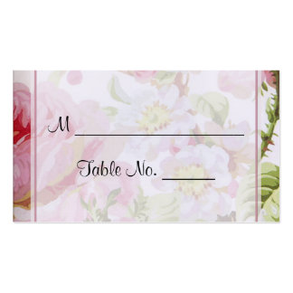 Vintage Pink Rose Posh Wedding Place Cards Business Card