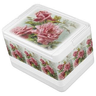 Vintage Pink Roses Bouquet Cooler