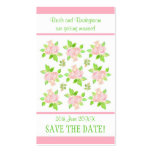 Vintage Pink Roses Customisable Save the Date card