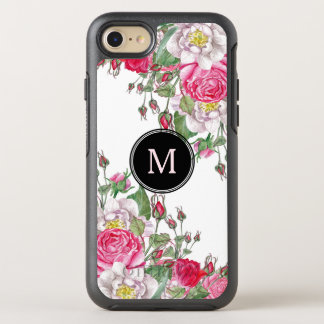 Vintage Pink Roses Design OtterBox Symmetry iPhone 8/7 Case