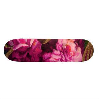 Vintage Pink Roses Gold Edging 21.6 Cm Skateboard Deck